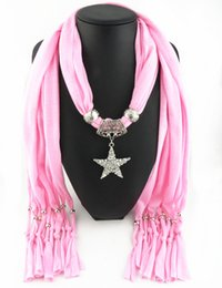 Newest Cheap Fashion Ladies Scarf Direct Factory Crystal Jewelry Star Scarves Women Fake Crystal Star Necklace Scarves