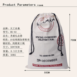 Free shipping 50pieces santa sack canvas santa sack christmas sack gift bag 3 styles fast delivery