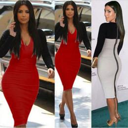 plus size autumn new fashion sex black and white patchwork spendex bodycon dress,kim kardashian celebrity dress, party evening dress