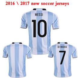 Wholesale Argentina Home jerseys camiseta de futbol DI MARIA HIGUAIN MESSI Kun Aguero football shirts