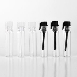 Wholesale Pieces ML Mini Portable Transparent Glass Perfume Bottle With Stick Empty Essential Oils Vial For Trial Pack