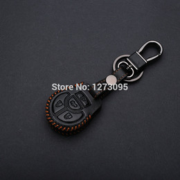 Wholesale Hand Stitched Sewing Leather Car Key Cover Case For NISSAN SENTRA VERSA TIIDA ALTIMA MAXIMA CUBE ROGUE JUKE NOTE QASHQAI SYLPHY