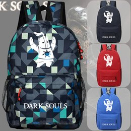 Wholesale Dark Souls solar backpack schoolbag students Knight game animation around