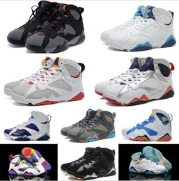 Wholesale 2017 new retro VII mans basketball shoes raptor guyz Hares Olympic Bordeaux GG Cardinal Raptor French Blue white BRED gold sports Sneaker