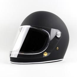 Compra Online Cascos de carreras de la vendimia-Venta al por mayor Japón TTCO Thompson motocicleta casco de plena carreras Racing Moto casco con visera clara Vintage Chopper Rider Retro Ghost Helmets