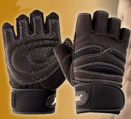 Wholesale-A35 Weight Lifting Gym Gloves Workout Wrist Wrap Sports Exercise Training Fitness