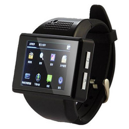 Wholesale Smart Phone Mtk6515 - 2016 New An1 Smart Watch Phone Quadband Android 4.1 MTK6515 Dual Core 512MB Smartwatch Support GPS WiFi Compass FM Bluetooth Spy Camera