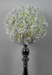 Free shipping rose and Hydrangea 30CM*10pcs lot Pomander rose ball wedding kissing flower ball party home decoration flower