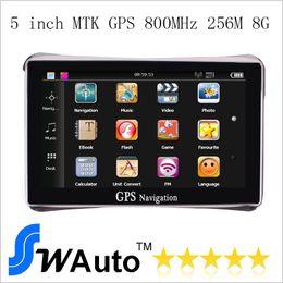Wholesale 5 inch Car GPS Navigator Navigation System M G FM Transmit IGO Free Maps Europe USA Maps Truck Maps