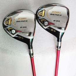 Wholesale New Womens Golf Clubs HONMA S Golf fairway wood loft Graphite Golf shaft and headcover wood clubs