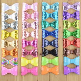 embroidery sequins Bows 3 inch DIY Bowknot for hairband headband kids Hair Accessories Hairpins Hair Clip Hair Sticks 32 colors B246