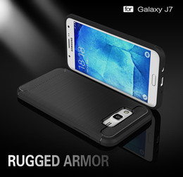 for Galaxy J7 cases Carbon Fibre Brushed TPU Protective Case for Samsung Galaxy J 7