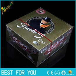 Wholesale Factory Picture Gold Cigarette rolling Paper Cigarette Paper mm mm Smoking Paper Wrapping Paper big Size Cigarette Paper Bambu