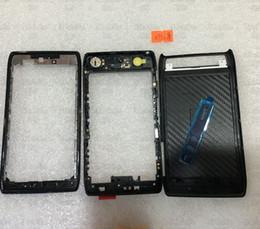 Wholesale Full Housing Cover Case Battery Door Black for Motorola thin Verizon Droid Razr XT910 XT912Middle Frame Back housing