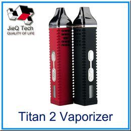 Wholesale Electronic Cigarette Titan Dry Herb Vaporizer V mah LCD Display Titan Herb Kit With Temprature Control System DHL Free