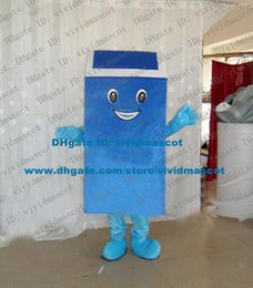 Wholesale Pleasant Blue Dustbin Ash Can Garbage Can Trash Can Mascot Costume Cartoon Character Mascotte Adult Short Legs ZZ1704 Free Ship
