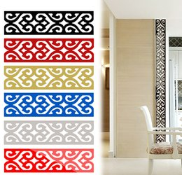 Wholesale Best Buy D Mirror DIY Removable Wallpaper Skirting Wall Stickers Ceiling Background Decal Acrylic Home Decor JM29