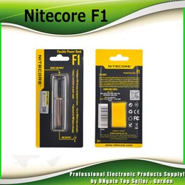 Authentic Nitecore F1 charger Flexible Intellicharger E Cigarettes battery usb Charger for 18650 18500 14500 Li-on IMR Batterie 100% genuine