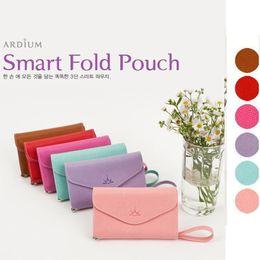 Wholesale New Arrival Korea ARDIUM Smart fold Multi Pouch for iPhone bags wallet leather handbag