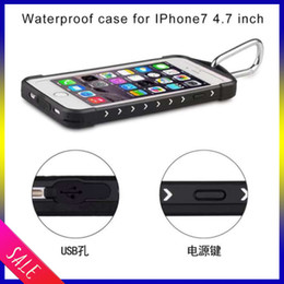 Wholesale Iphone7 Waterproof case Shockproof Snowproof Phone Accessories Case Cover with spider web design For Cell Phone iphone