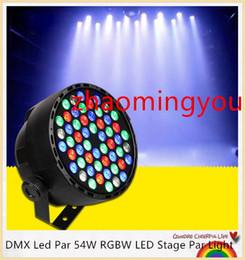 DMX Led Par 54W RGBW LED Stage Par Light Wash Dimming Strobe Lighting Effect Lights for Disco DJ Party Show