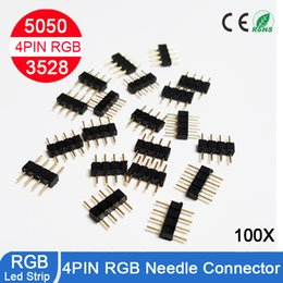 Wholesale 4pin RGB connector pin needle male type double pin DIY small part for LED RGB and strip
