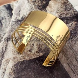 Wholesale 2016 luxury womens ladies females punk nightclubs DJ DS exaggerated Alloy opening broadside bangles bracelets wristband lover gift