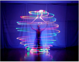Wholesale LED Hand Props women led poi thrown balls for accessories hand belly dance props aoto color