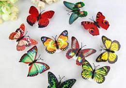 Compra Online Noche de mariposa-Luz colorida de la noche de la mariposa LED que cambia el regalo de la decoración de la luz de la lámpara