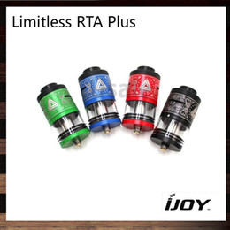 Wholesale iJoy Limitless RDTA Plus Atomizer ml Tank Upgraded Post Deck Hybrid Compatible Delrin Chuff Cap Original