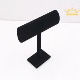 Shipping1Pcs gratuit Black Velvet dur Jewelry Display Support à T-Bar Bracelet chaîne Montre rack Nouveau à partir de barres autoportantes fournisseurs