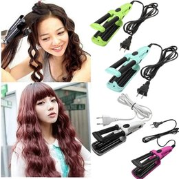 Wholesale 3 Barrel Ceramic Hair Curling Iron Tong crimper Curler Waving Wand Roller Automatic Professional Hair Curling Curler Iron Wave Machine Curl