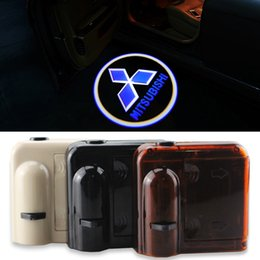 Wholesale Wireless Car Projector Logo No Drill Magnetic Car LED Door Welcome Projector Logo Ghost Shadow Laser Lights for MITSUBISHI