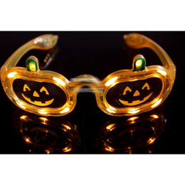 New 5 style LED Pumpkin Butterflies Glasses Flashing Glasses Light Party Glow Halloween Glasses Free shipping E1320