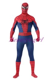 Wholesale Newest Design Adult Men Comic Spiderman Bodysuit S6K001Spider Web Jumpsuit Breathable Zentai Catsuit for Halloween Cosplay