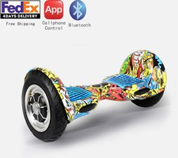 2016 Popular 10inch Self Balancing Scooter 2 wheel Electric Hoverboard Smart Bluetooth Electric Skateboard Kick Scooter Free Shipping