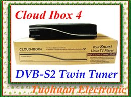 Wholesale Cloud Ibox Free Shipping - Latest Cloud Ibox 4 Linux Operating System support vu+duo image DVB-S2 Twin Tuner cloud ibox IV Digital Satellite Receiver dhl free shipping