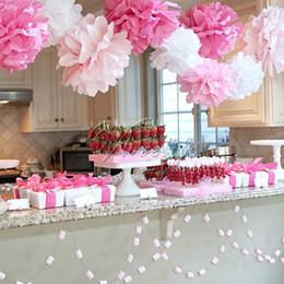 Wholesale 30PCS quot CM Tissue Paper Pom Poms Flower Kissing Ball Photo Props for Wedding Party Festival Paper Pompoms Venue Craft DIY Decor