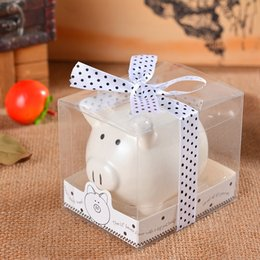 Wholesale Wedding Favor PIGGY PORK Gift Lovely Ceramic White Pig Bank Storage Tanks Saving Pot