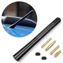 Wholesale Universal Black Carbon Fiber Short Antenna Aerials For Toyota Highlander Yaris Camry Cars