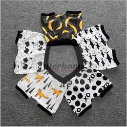 Wholesale Baby Ins PP Pants Ins Batman XO Banana Haroun Pants Fox Panda Fish Shorts Cotton Cropped Trousers Kids Summer Clothes Ins Baby Clothing B388