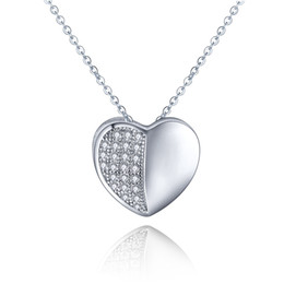 Wholesale Heart Personalized Sterling Silver Necklaces Pendants for Womem Fashion Jewelry Christmas gift Locket Necklaces DP13000A