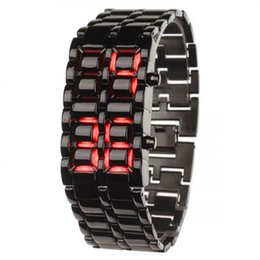 Wholesale Fashion watch red digital stainless steel quartz watch digital LED display the characteristics of atmospheric reveal your