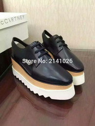 Wholesale 2016 High quality Baby stella wedges high platform lace up shoes single shoes height Increasing Shoes women s shoe