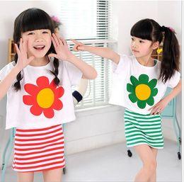 new Baby Girls Kids clothing set Suit Children Short Sleeve Girls Clothing Summer Set Children Short Sleeve Cartoon T-shirt + Shor