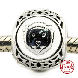 Wholesale 2016 Leo Star Sign Charm Sterling Silver Beads Fit Pandora Charms Bracelet Authentic DIY Fashion Jewelry