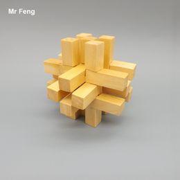 Interlocking Adult Children Wooden Toys Kong Ming Lock Puzzle Game