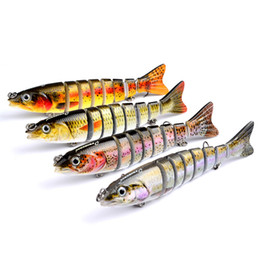 Hot New Wholesale 4pcs Lot Proberos Fishing Lure 8Sections Swimbait Bait Tackle12.5cm 0.65oz 18.8g