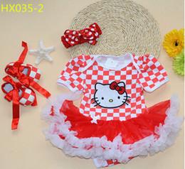 Wholesale-Reatil Wholesale 2016 New Girl Dress Checkered Pattern Lovely Newborn Baby Dress Lace Ruffle Clothing Set 0-2Year