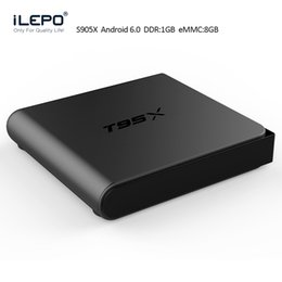 Wholesale 2017 Model iLepo Android TV box T95X Amlogic S905X Bits Video Stream Box with Fully Loaded Unlimited Kodi Apps OTA available